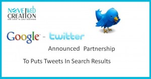 Google-Twitter Announced Partnership To Puts Tweets In Search Results