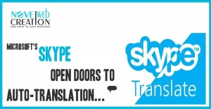 Microsoft's Skype open doors to auto-translation