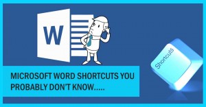 Microsoft word shortcuts you probably don