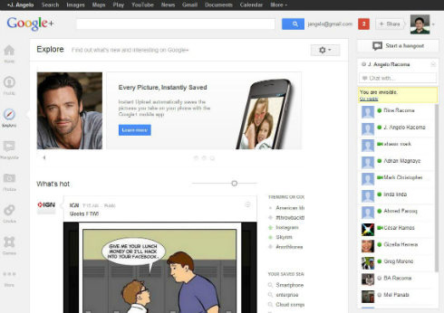 Google Plus decided to change feature recommended & in dynamic way