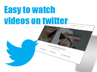 Now it's become very easy to watch videos on twitter