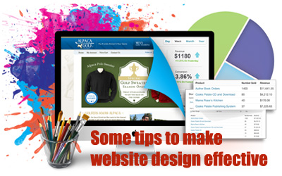 Some tips to make website design effective