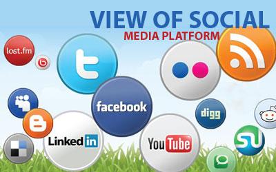 View of Social media platform