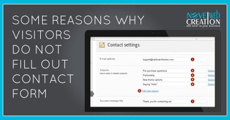 reasons why visitors do not fill out contact form