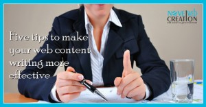 Five tips to make your web content writing more effective