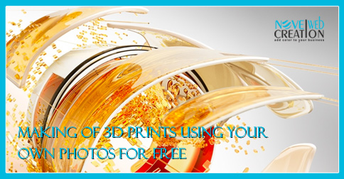 Making of 3D prints using your own photos for free