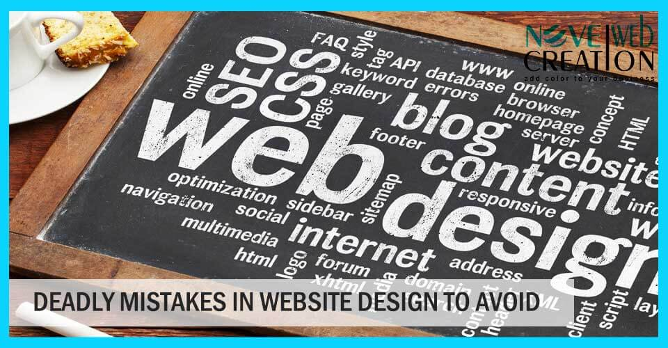 Deadly Mistakes in Website Design to Avoid
