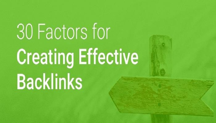 30 Factors for Creating Effective Backlinks